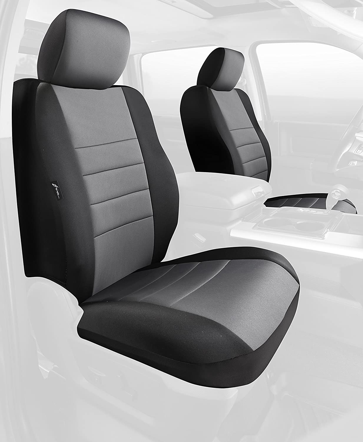 NP98-15 GRAY FIA NP98-15 Black with Gray Cover Front Bucket Seats//Neoprene Center Panel