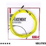 Cable de repuesto para comba de saltar de Crossfit, Fitness y Boxeo por VELITES | PVC Amarillo y acero de 2 mm | Para entrenamiento regular | Mejora tus saltos dobles | Compatible con otras marcas.