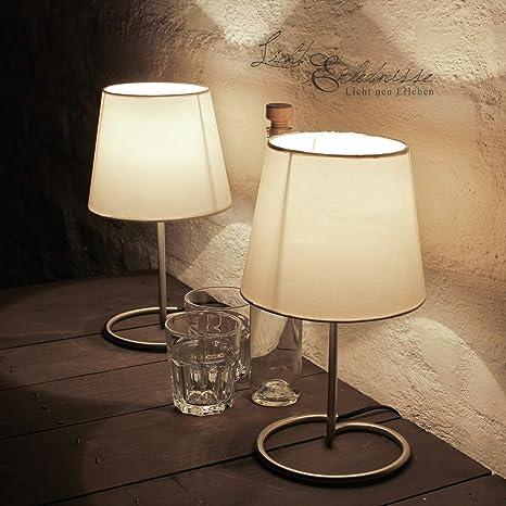 Decorativa Noche Lámpara de mesa en un práctico (2 unidades ...
