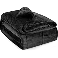 Lofus Sherpa Fleece Weighted Blanket Adults 15lbs for Queen Size Bed, Ultra Fuzzy Fleece Comfort Sherpa Flannel…