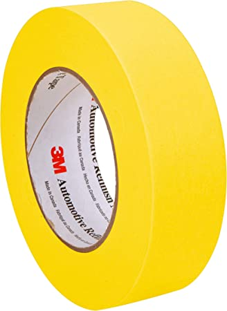 20 Meter Yellow Painters Tape Masking Tape that Sticks Well Leaves