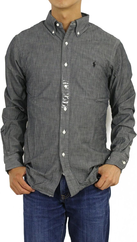 Ralph Lauren Camisa de algodón de Sarga con Botones para Hombre ...