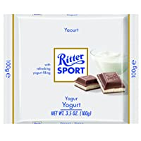 Ritter Sport, Milk Chocolate with Yogurt Filling, 3.5-Ounce Bars (Pack of 12)