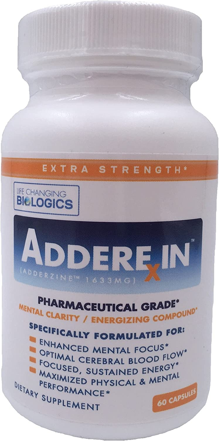 Adderexin – Mental Focus Energy Nootropic Supports Mental Clarity Concentration With Alpha GPC and Teacrine