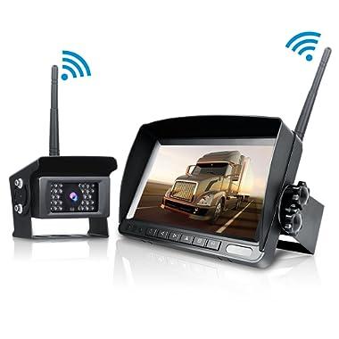 Digital Wireless Backup Camera kit, TOGUARD 7  LCD Rear View Monitor, IP69 Waterproof IR Night Vision Backup Reverse Cam for Trucks/RV /Trailer/Pickups /Camper/Fifth Wheel/Bus /Vans