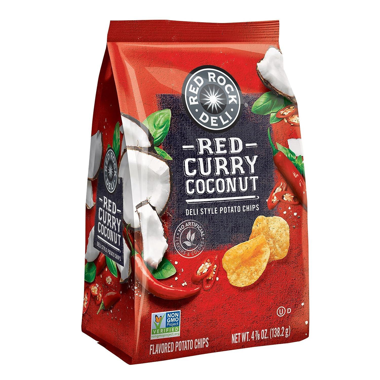 Red Rock Deli Red Curry Coconut Flavored Deli Style Potato Chips, 4 88 Ounce