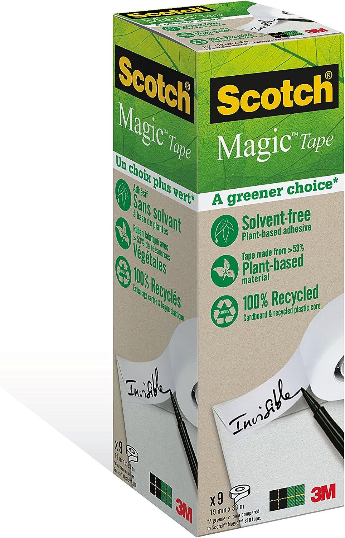 8 Pezzi Tradizionale Scotch Magic Type Nastro Adesivo 3M Trasparente Inscrivibile
