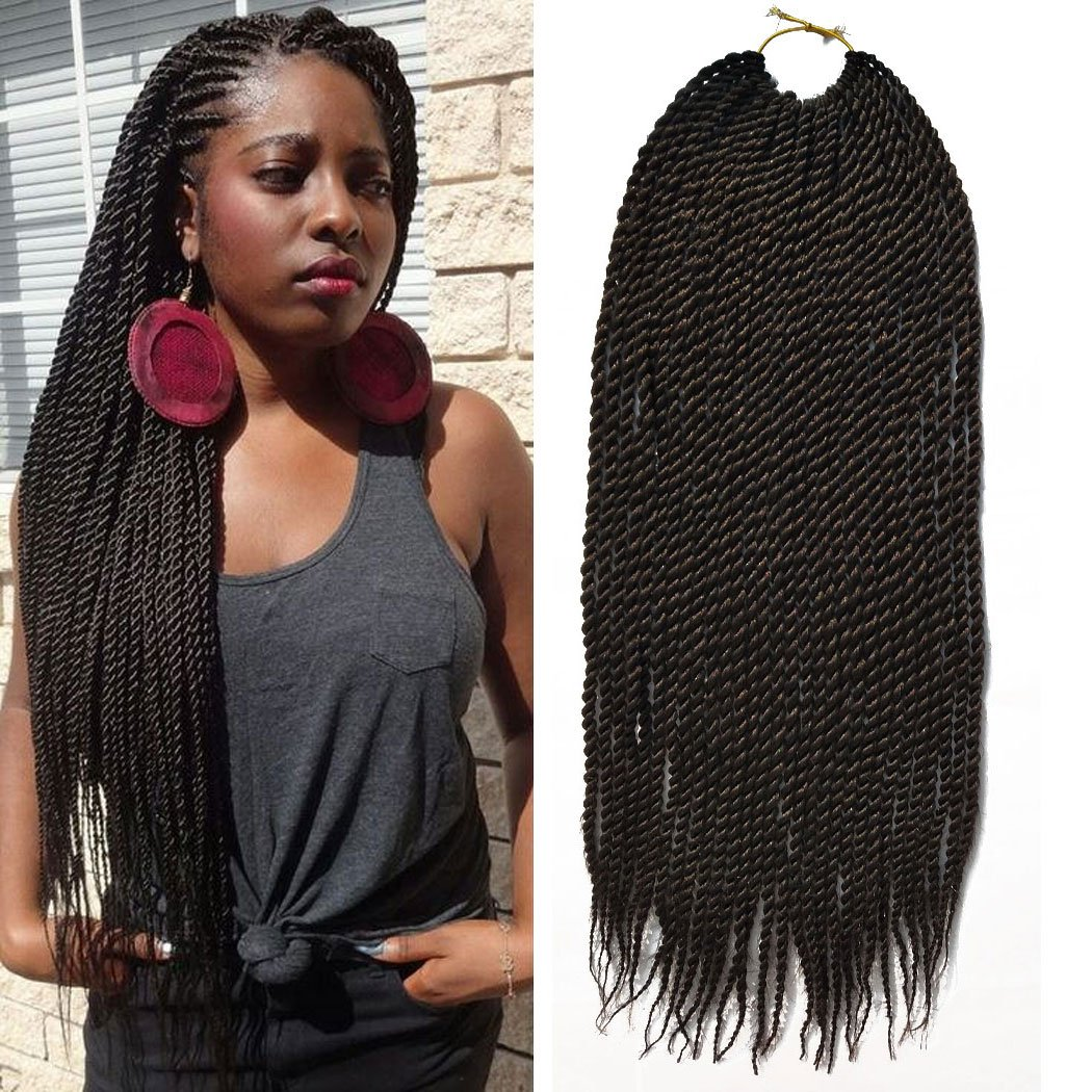 Flyteng 8packs 18 Senegalese Twist Crochet Braids 30strands Pack Synthetic Crochet Hair Extensions Senegalese Twists Hairstyles For Black Women