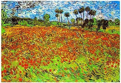 Amazon Vincent Van Gogh Poppy Fields Art Print Poster 19 X 13in