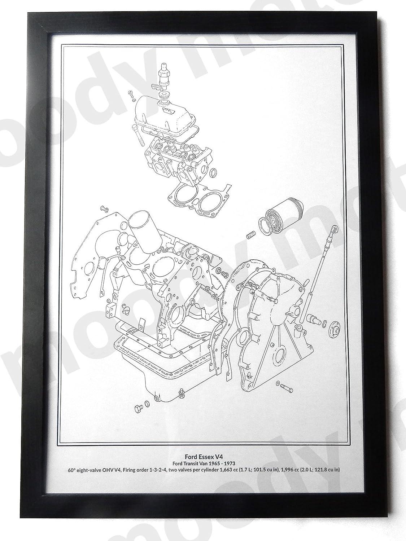 Ford Transit Essex V4 Classic Engine Diagram Schematic A2 A3 Size