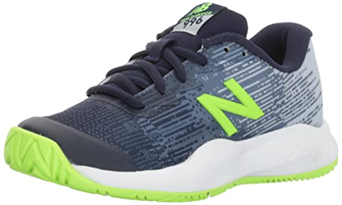 New Balance Boys Hard Court KC996V3 Tennis Shoe Green 10.5 Medium US Little Kid