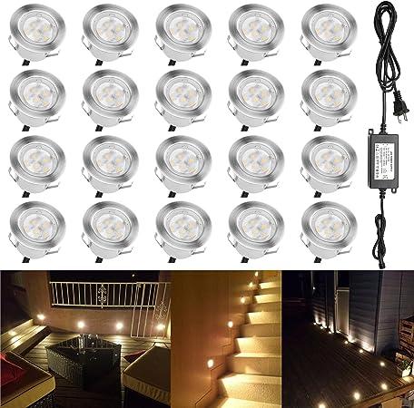 Qaca Low Voltage Landscape Lights Outdoor Deck Lighting Kit 1w