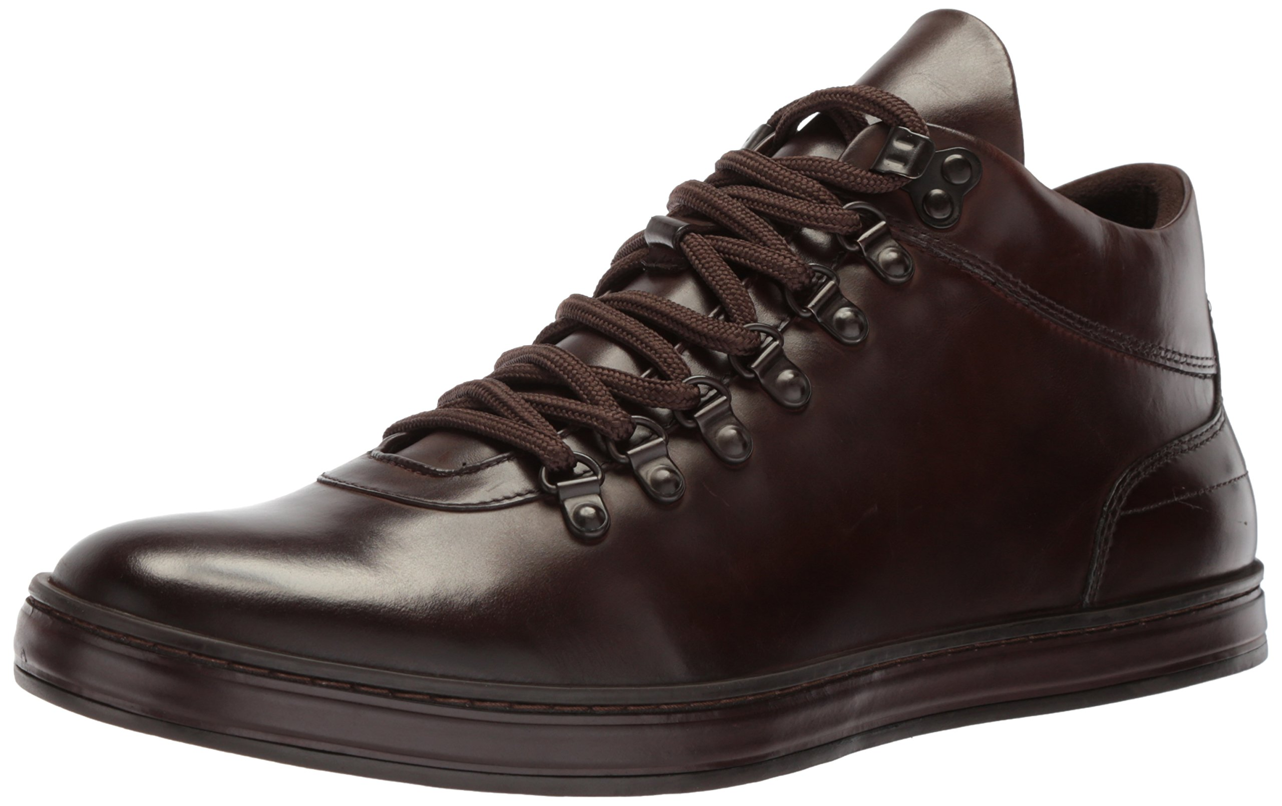 Kenneth Cole New York Men's Brand Tour Sneaker, Brown Leather, 7.5 M US