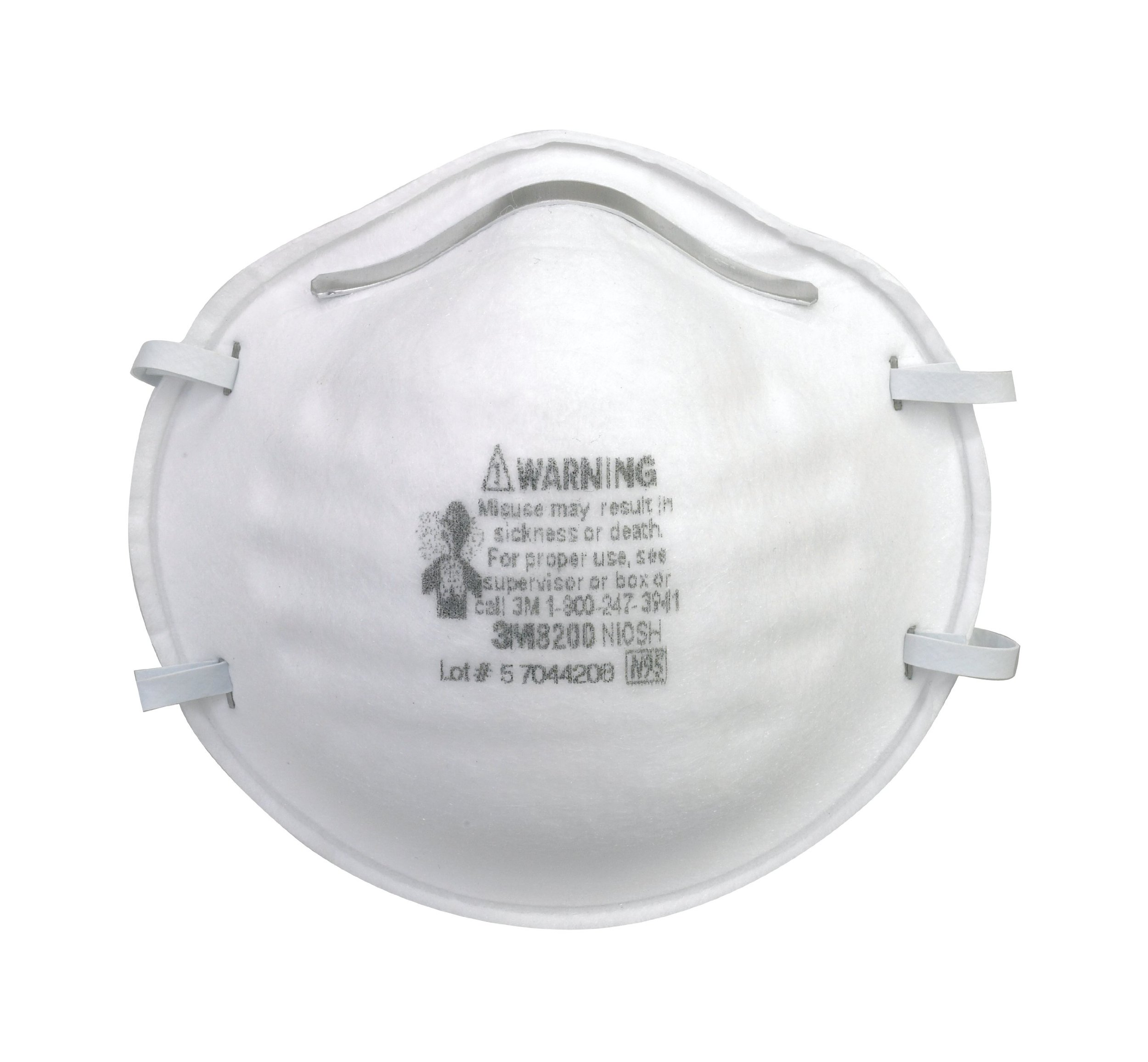 3M 8200 Particulate Respirator N95, 20-Pack by 3M