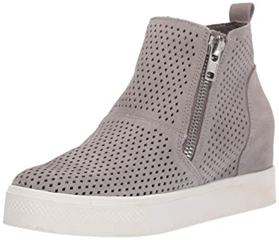 619ee7052e2 Steve Madden Women s Wedgie-P Sneaker Light Grey Suede 8 ...