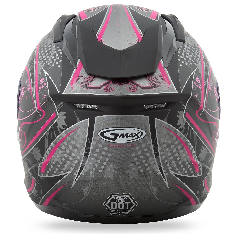 c7a159d1 Amazon.com: GMAX FF88 Versailles Full Face Street Motorcycle Helmet - Flat  Black/Pink Large: Automotive