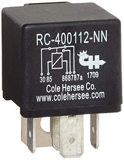 Amazon.com: Cole Hersee RC-400112-NN-BX Relay (Form_C 12V cket ... on bosch relays, hella relays, standard ignition relays, ford relays,