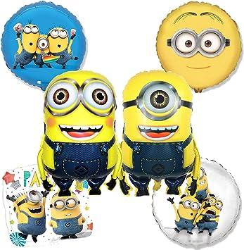Globos de cumpleaños de Minion – Juego de 6 globos de fiesta de los Minions de Mi villano favorito: Amazon.es: Juguetes y juegos