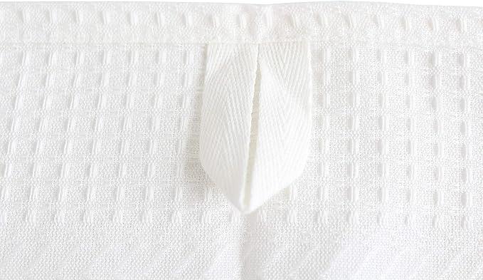 MinaWum Coffret cadeau gaufr/é compos/é de quatre Linum Torchons en piquet gaufr/é blanc