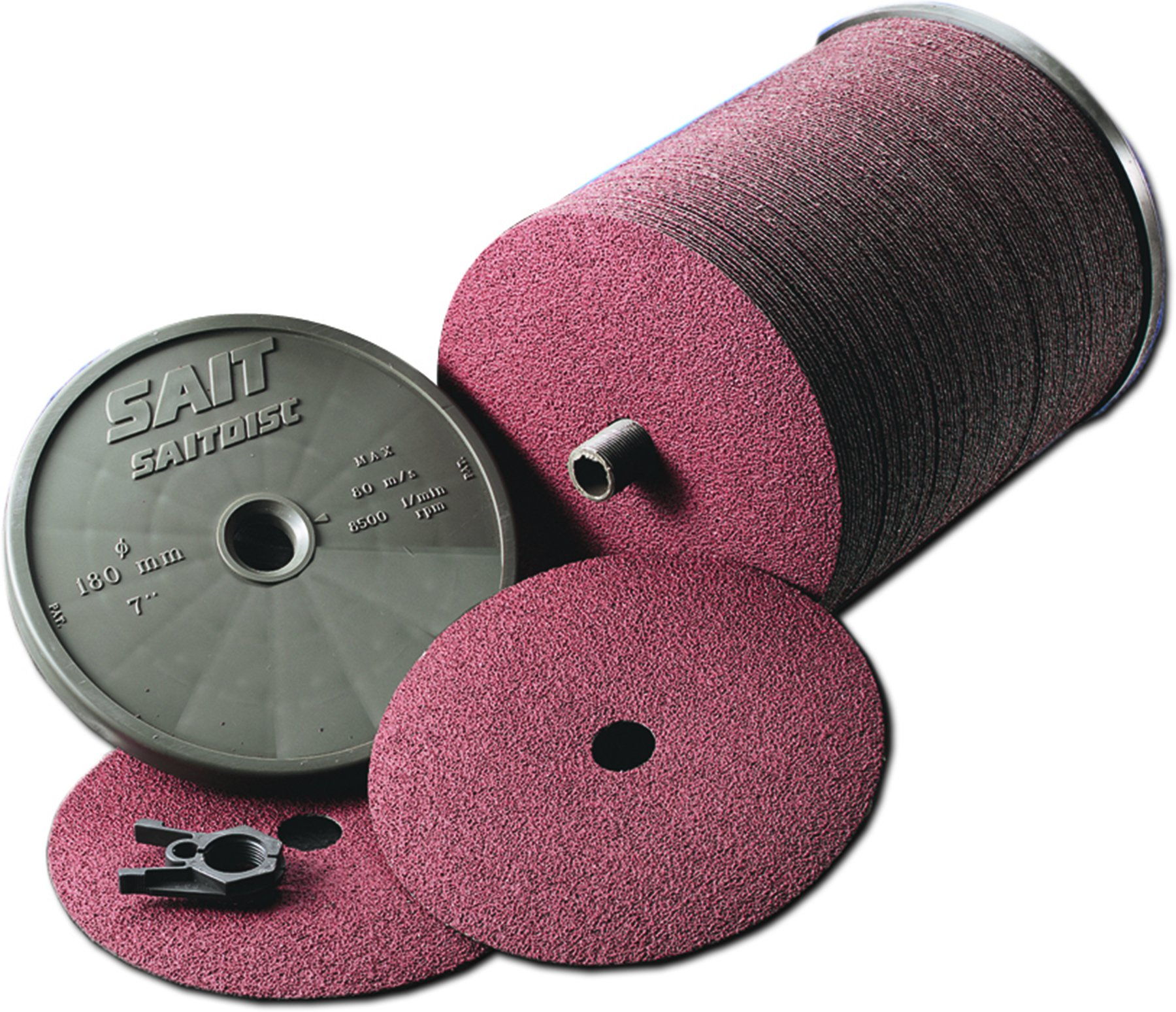United Abrasives-SAIT 59021 Economical Ceramic Fiber Disc, 7A-S 5 X 7/8, 50 Grit, 100 Per Box