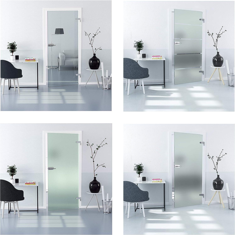Duradoor – Puerta de cristal ESG en muchos tamaños y diseños, puerta de cristal completa para interior de habitaciones, puerta de oficina, puerta giratoria giratoria