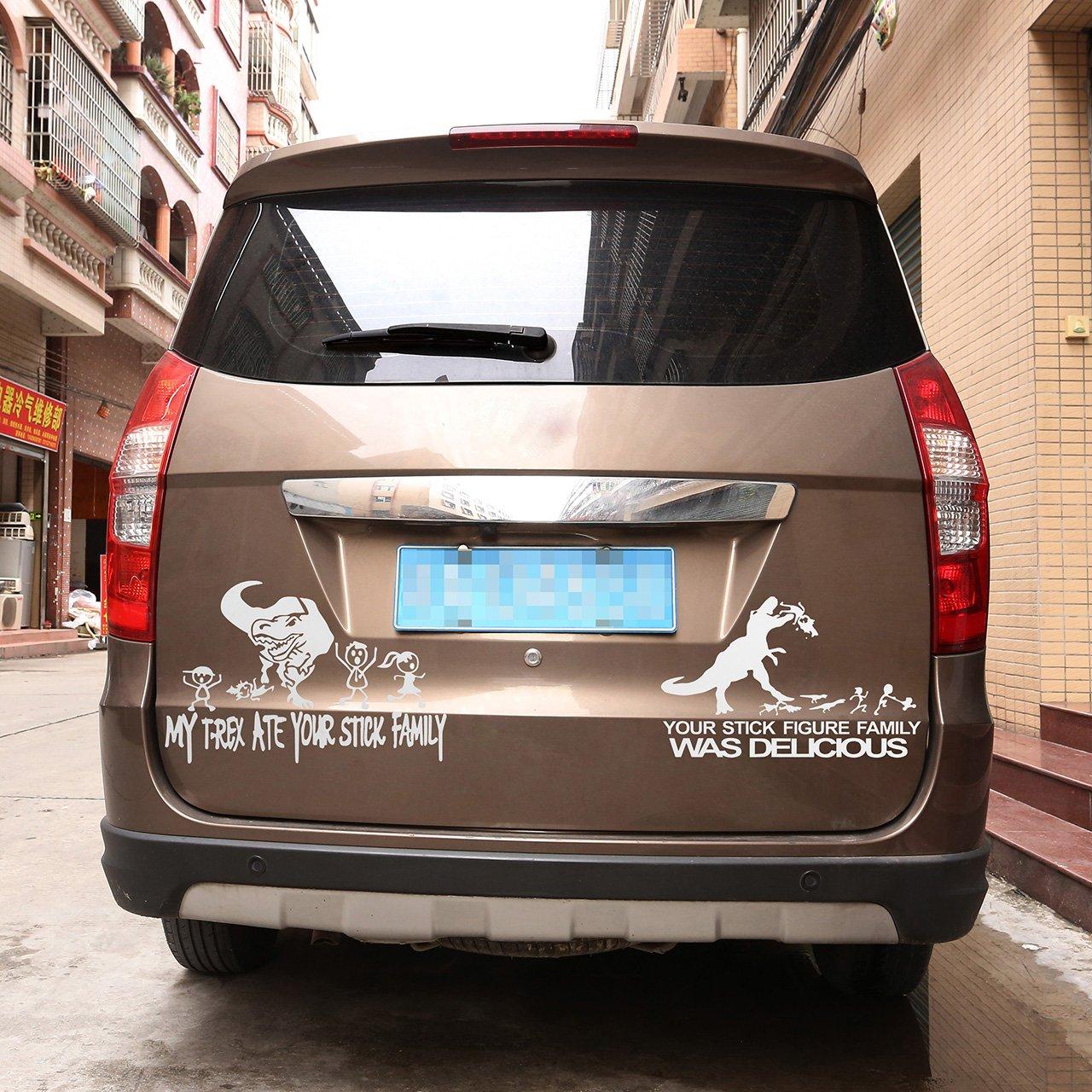 ACBungji Stickers Adesivi dinosauro auto Paraurti Specchietto Retrovisore Frigo Muro Porta