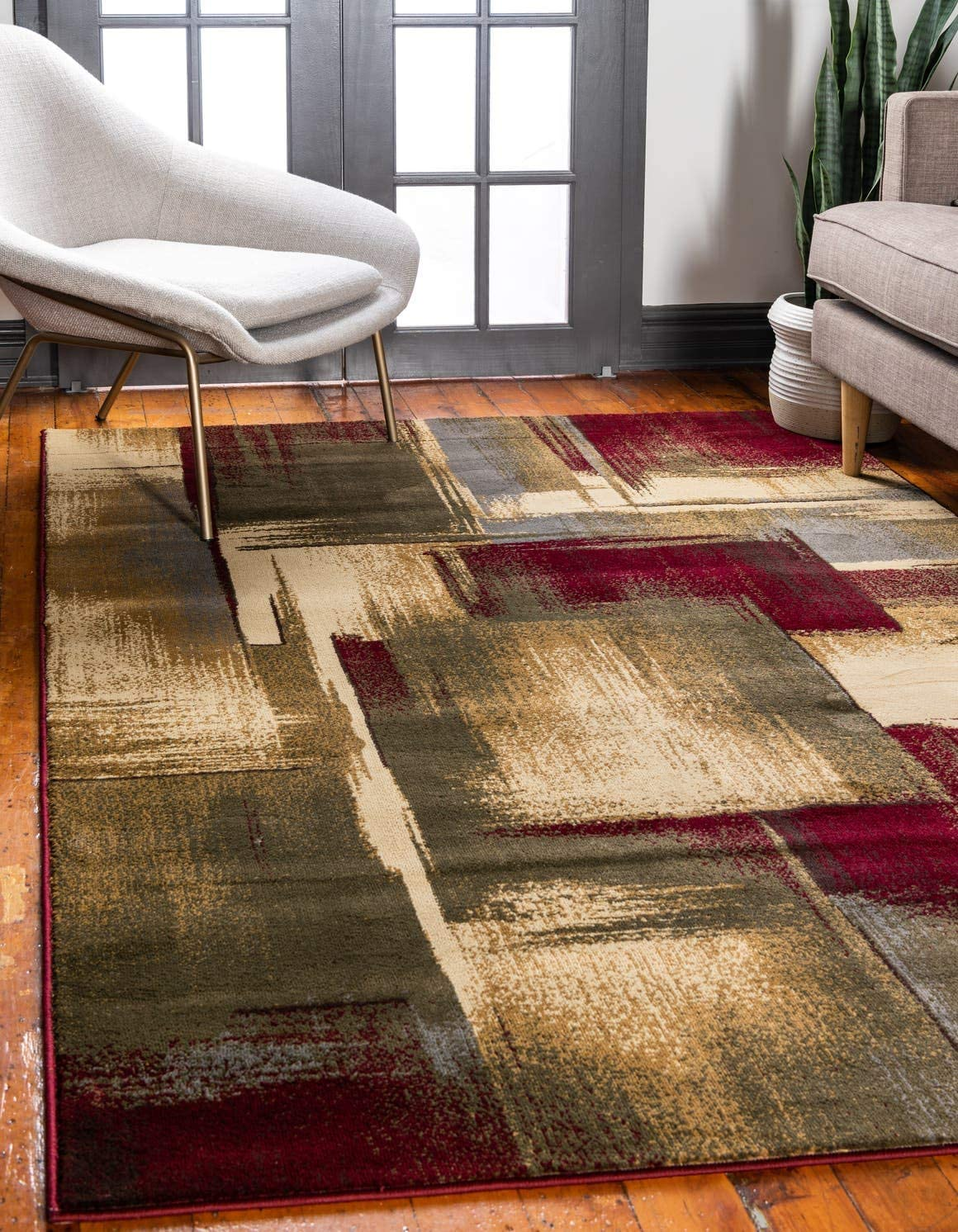 Unique Loom Barista Collection Modern Abstract Gradient Multi Area Rug 4 0 x 6 0
