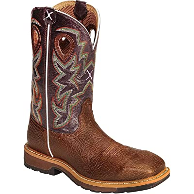 Twisted X Mens Lite Cowboy Purple Work Boot | Industrial & Construction Boots
