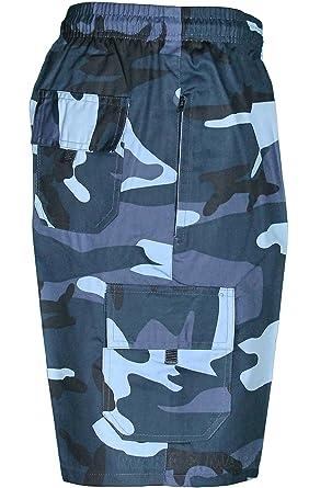 Mark   Mark Mens Camouflage Army Camo Shorts Cargo Combat (Large ... ba67510e703
