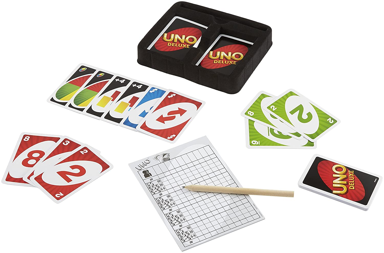 Mattel Games K0888 UNO Deluxe Kartenspiel, geeignet für 2 - 10 ...