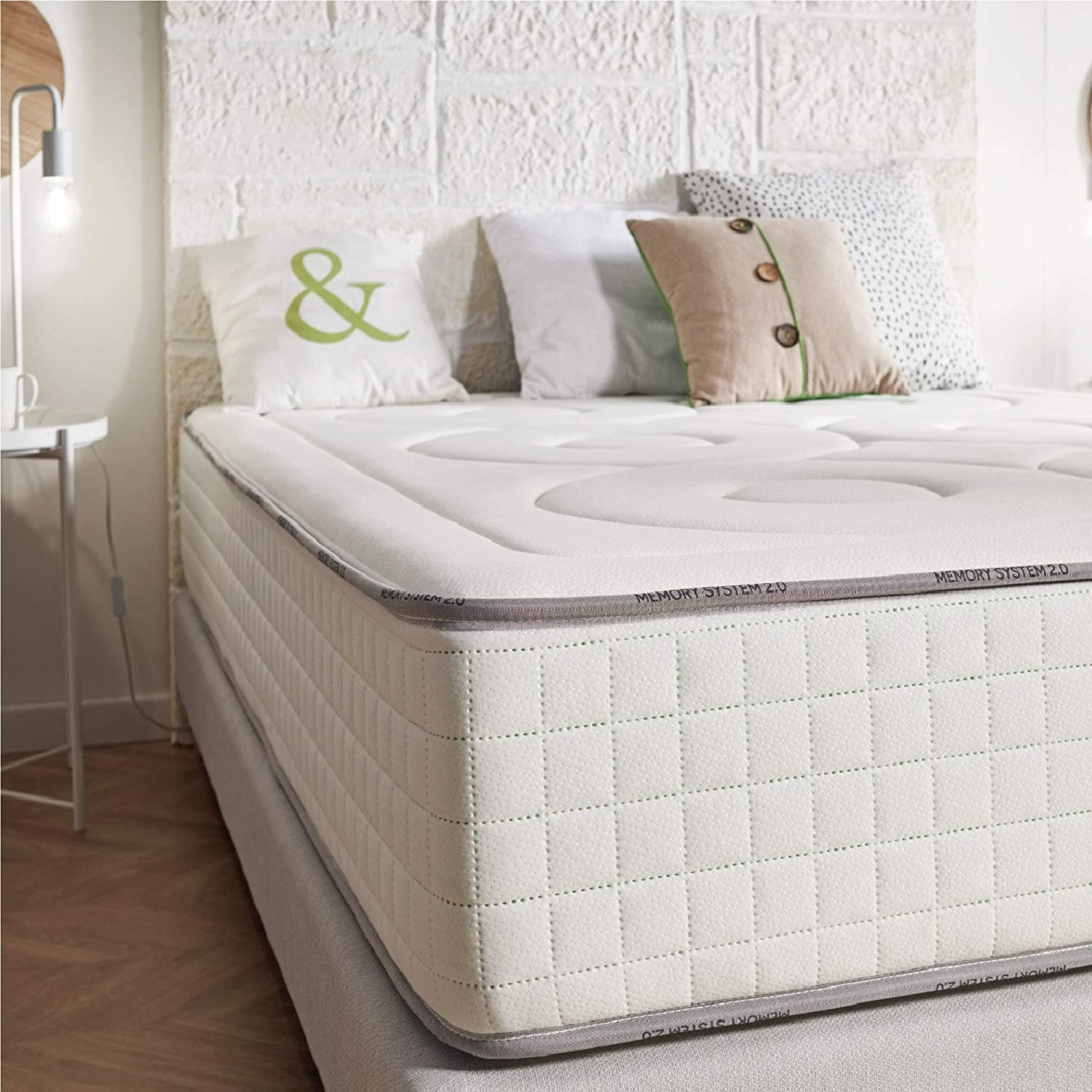 naturalex Memory S 5ft King Size 150x200cm Latex and Multi-Density Memory Regulates Body Temperature for a Cleaner Fresher Sleep Certified Materials High Format Memory Foam Mattress