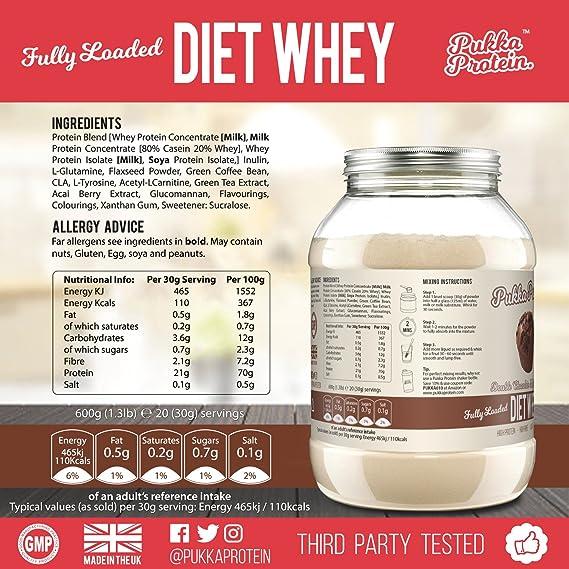 PUKKA PROTEIN - Proteína de Suero de Leche en Polvo Para Dieta Deliciosa - Sabor a Galleta de Chocolate, Baja en Grasas, Alto Contenido Proteico - Batido ...