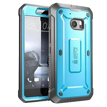 Carcasa para HTC 10 (2016) , Funda completa resistente SUPCASE con protector de pantalla integrado, serie Unicorn Beetle PRO (Azul)