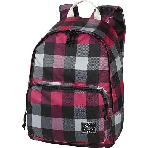 OŽNeill AC Coastline Backpack - Mochila, color rosa con cuadros blancos y negros: Amazon.es: Zapatos y complementos