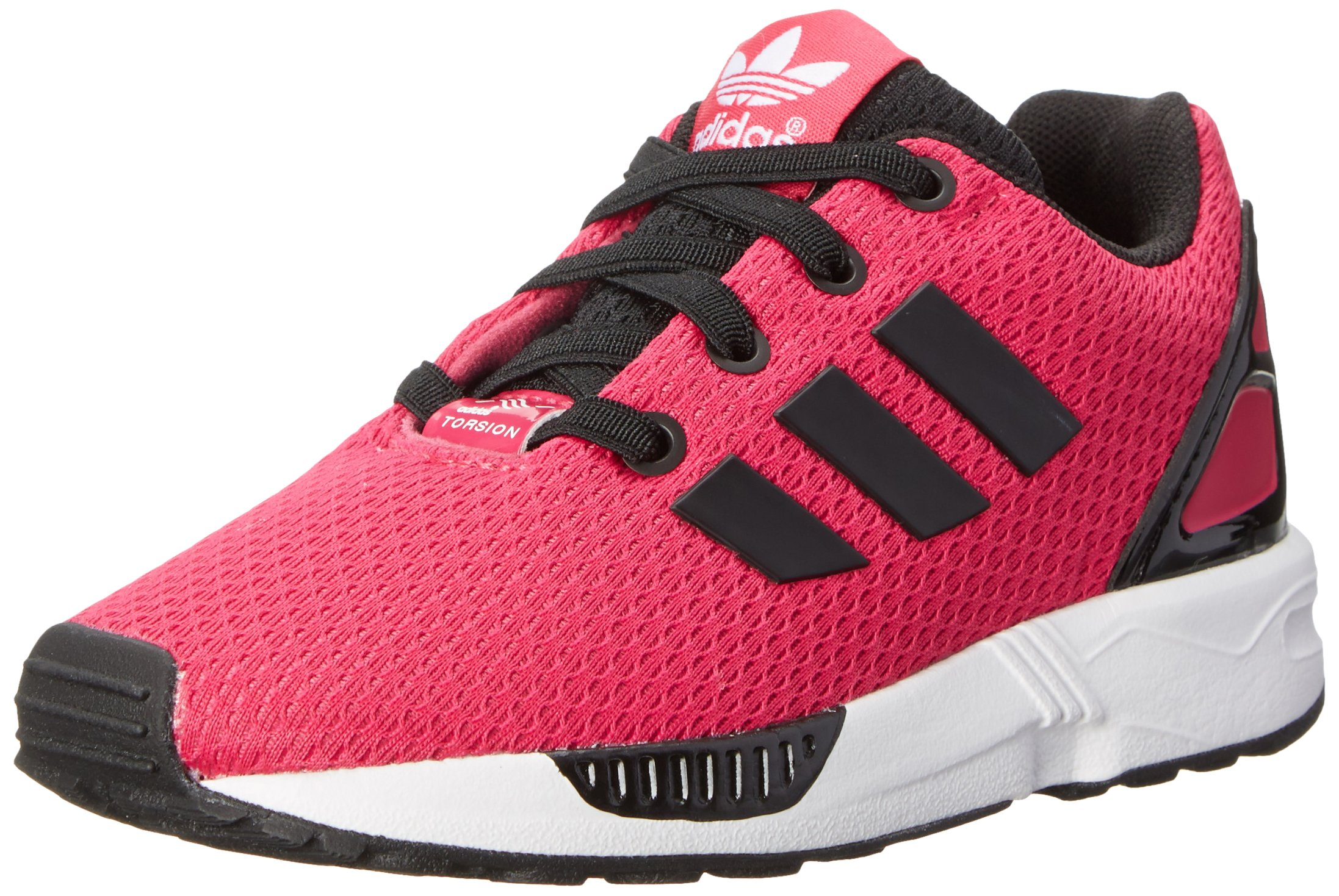 premium selection 156f6 ccc31 Galleon - Adidas Originals ZX Flux EL I Running Shoe (Toddler), Bold  PinkBlackWhite, 8 M US Toddler
