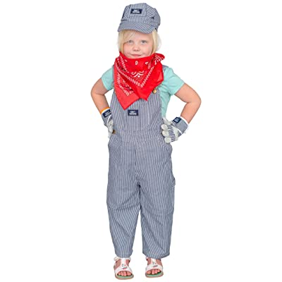 Train Conductor Engineer Child Deluxe Halloween Costume Set: Clothing