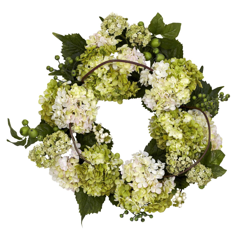 Amazon nearly natural 4780 hydrangea wreath 22 inch cream amazon nearly natural 4780 hydrangea wreath 22 inch creamgreen home kitchen mightylinksfo