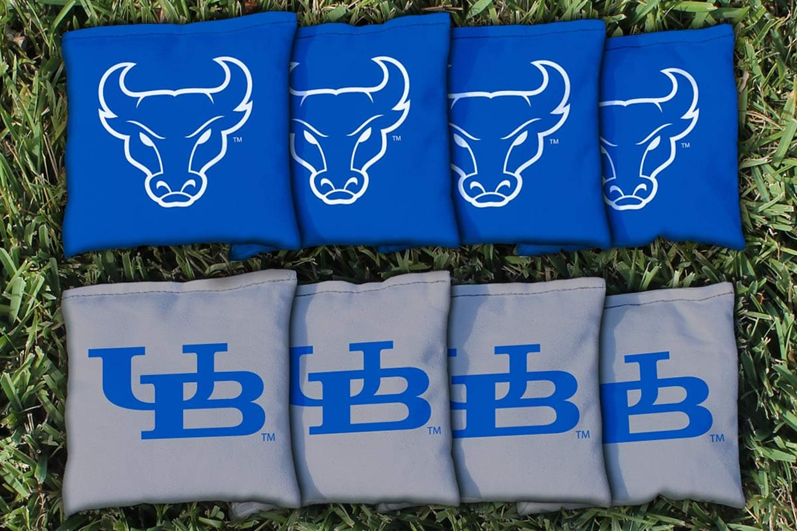 Victory Tailgate NCAA Regulation Cornhole Game Bag Set (8 Bags Included, Corn-Filled) - SUNY - Buffalo Bulls