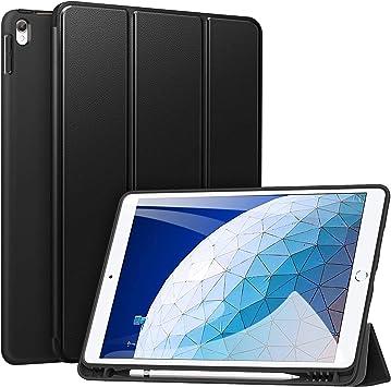 ZtotopCase Funda para iPad Air 2019 3.ª Gen/iPad Pro 10.5, Estuche Inteligente Ultra Delgada Ligera con Porta-lápiz, función Auto-Sueño/Estela, con Suave TPU Trasera, Negro: Amazon.es: Electrónica