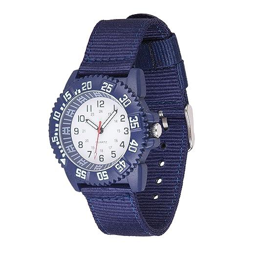 Gaigor Niños Relojes de Pulsera Deportivos para Infantiles Relojes de Cuarzo analógico Azul G018W001: Amazon.es: Relojes