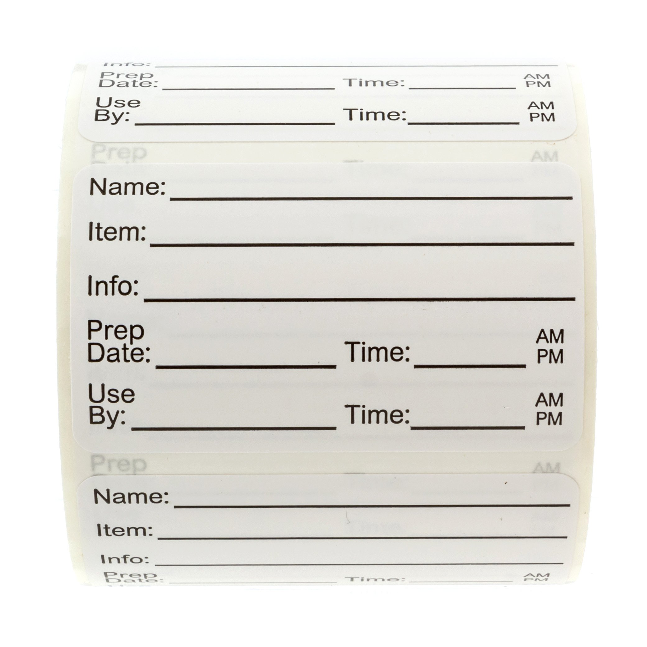 500 Food Prep Labels - Removable Stickers for Meal prep, Leftover Labeling, Food Container Labeling, Restaurant Quality by Sblabels (Image #6)