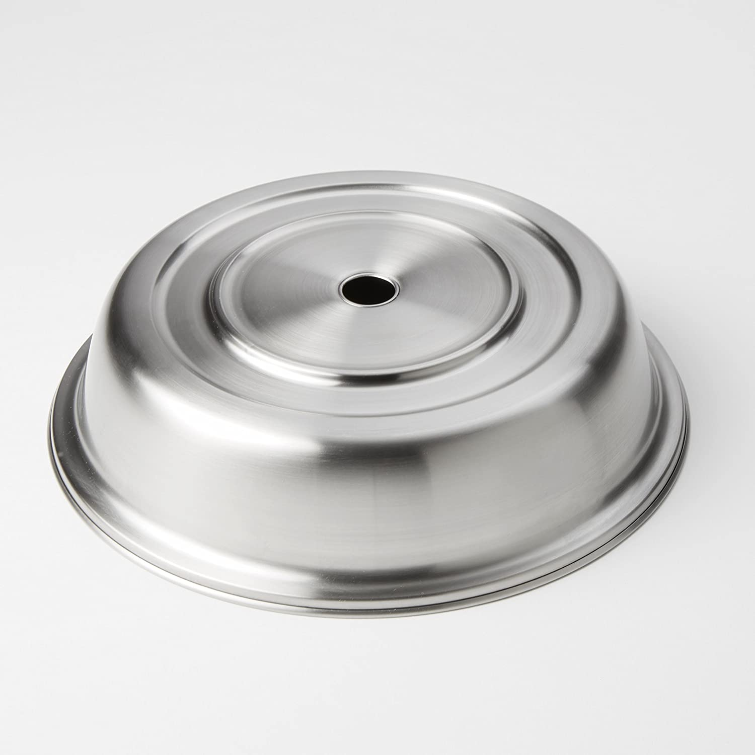 American Metalcraft PC1025S Round Stainless Steel Plate Cover, Standard or English-Style Foot