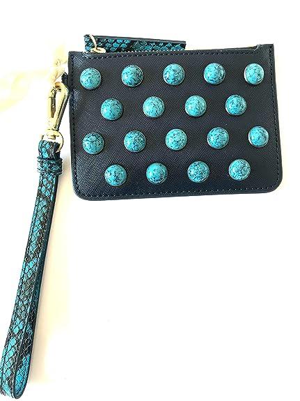 Pinko - Cartera de mano para mujer Azul turquesa larghezza 14cm altezza10cm: Amazon.es: Zapatos y complementos