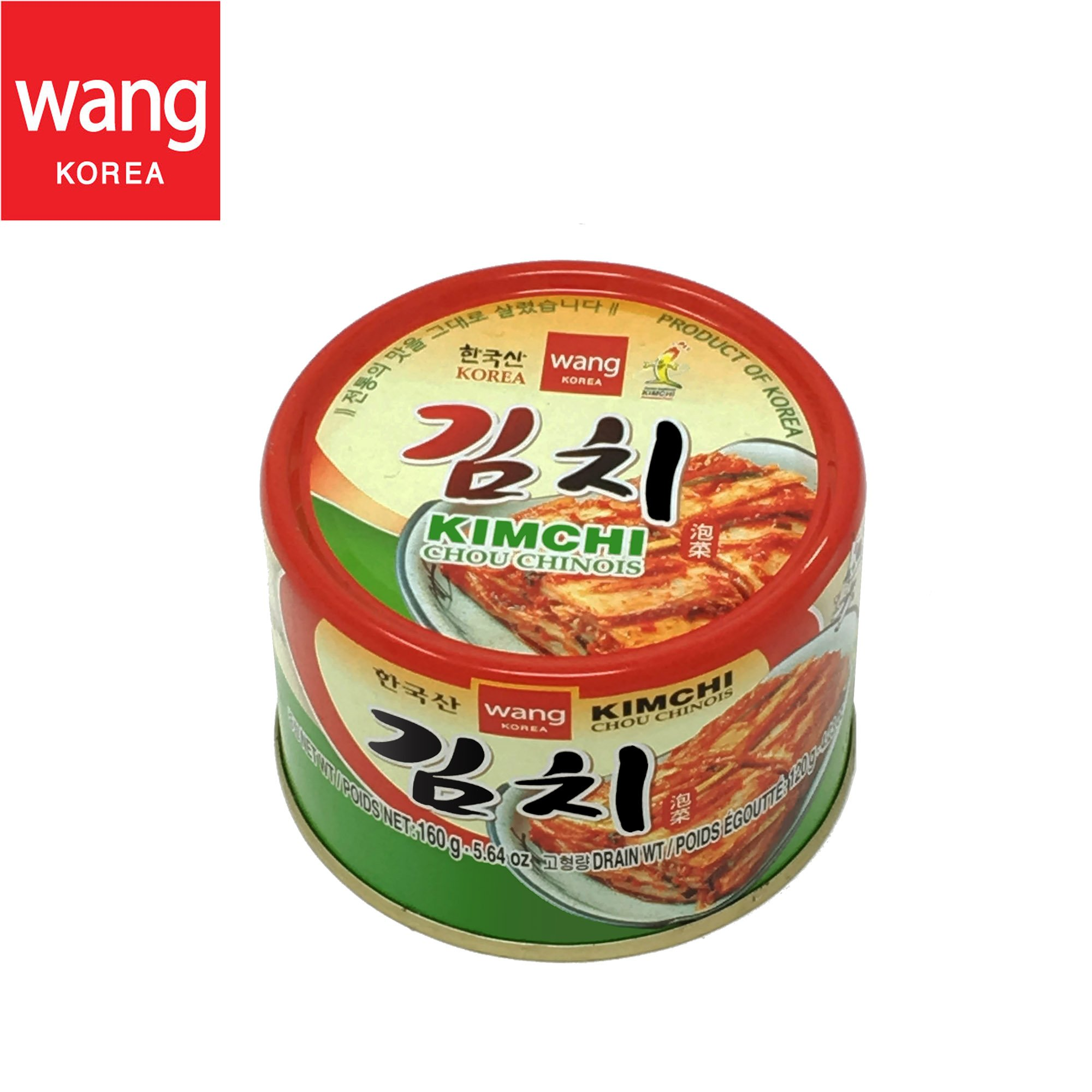 Korean Canned Kimchi, Original Authentic Tasteful Can Napa Cabbage Kim Chi Condiment, Vegan Gluten Free [No Preservatives] - 5.64 oz (1 Can)