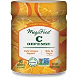 MegaFood, C Defense Gummies, Tangy Citrus Soft Chew Supplement for Daily Immune Support, Gluten Free, Vegan, 90 Gummies…
