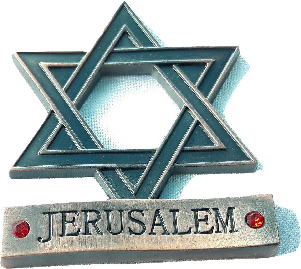 New Red metal Souvenir Fridge Magnet israel Jerusalem Star of David/Magen David