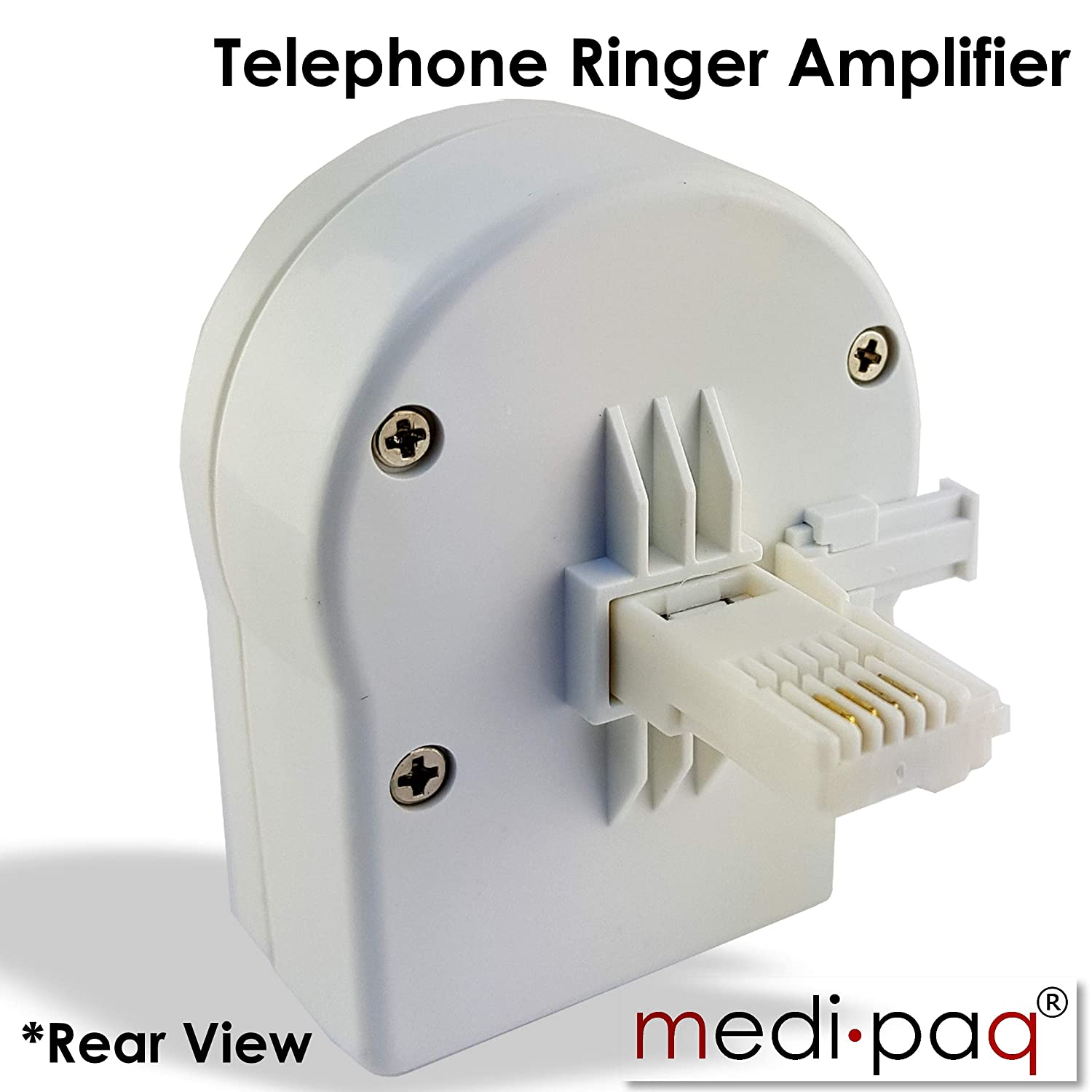 Medipaq Telephone Ringer Amplifier Dual Purpose Hear It Ring Circuit Louder See Flashing Never Miss A Call At Home Office Workshop Etc