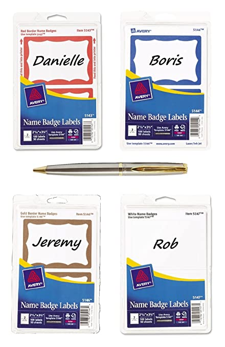 amazon com avery self adhesive name badge label 2 34 width x 3 37