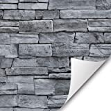 """17.71"""" Wide x 393.7"""" Long Peel and Stick Wallpaper Stone Self Adhesive Wallpaper Easily Removable Wallpaper Brick Wallpaper S"""