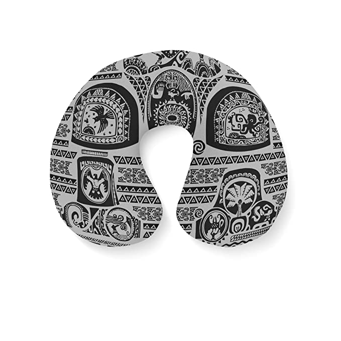 Amazon.com | Maui Tattoos Inspired Disney Moana Travel Neck Pillow ...